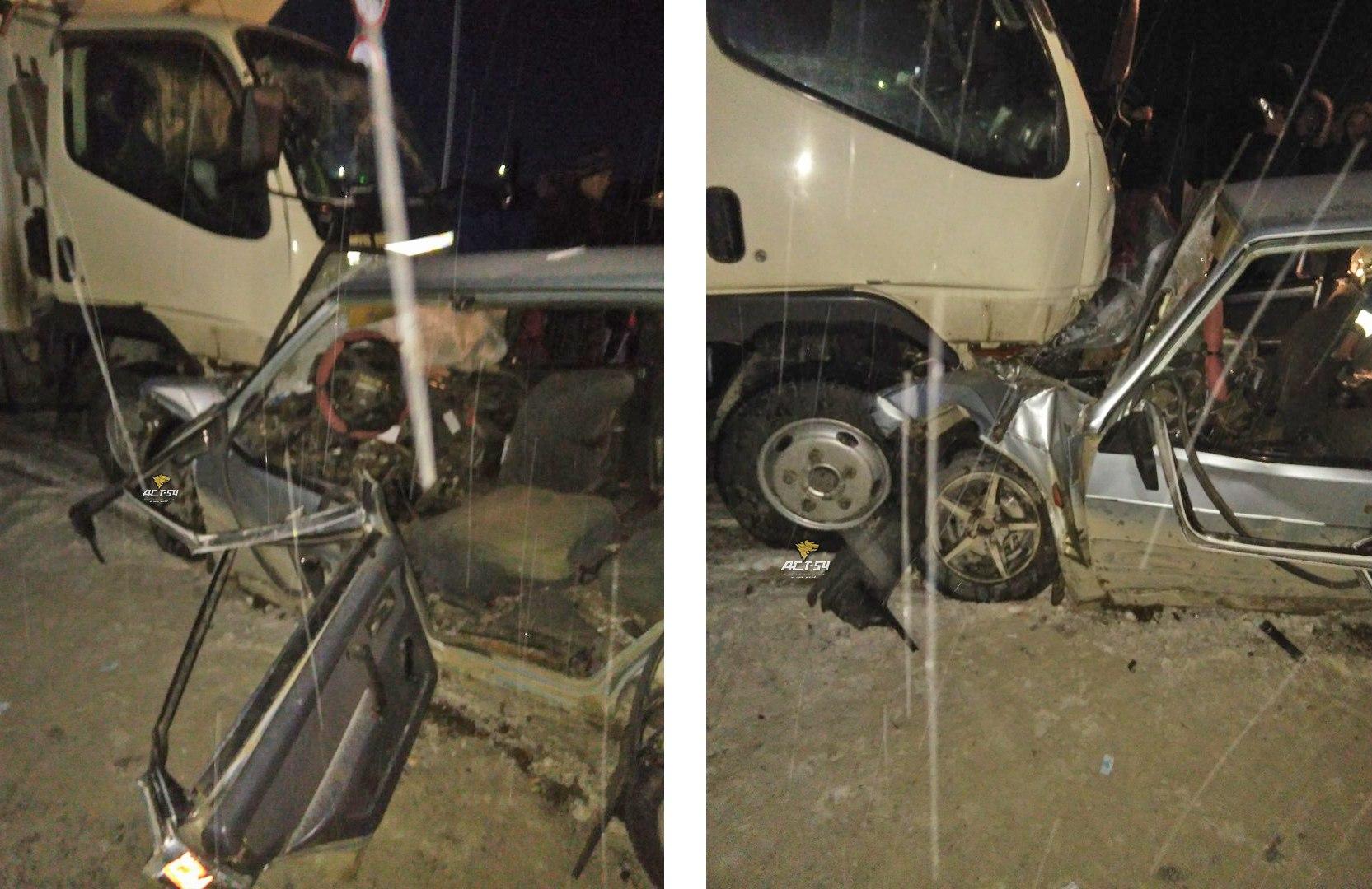 Водитель Лады погиб в ДТП с грузовиком на трассе в Новосибирской области