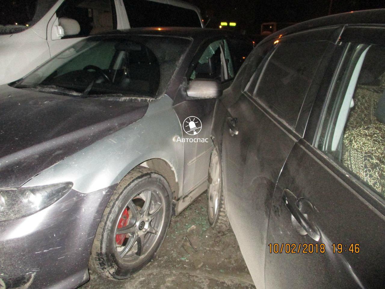 Водитель «Хонды» устроил массовое ДТП на парковке в Новосибирске