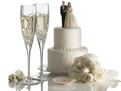 Бокалы молодым на свадьбу