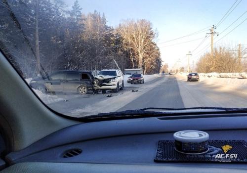В Первомайском районе столкнулись внедорожник и минивэн