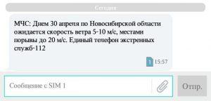 МЧС разослало SMS новосибирцам о порывистом ветре