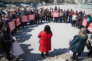 Из-за проблем с электричеством на митинг вышла сотня новосибирских дачников
