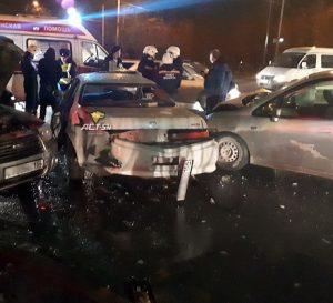 Жесткое массовое ДТП в Новосибирске, пострадал водитель «Тойоты»