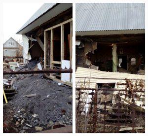 В частном доме Бердска средь бела дня рухнула стена