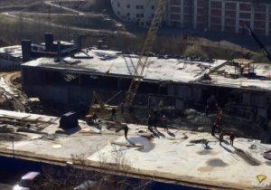 В Новосибирске рухнул строящийся дом в Заельцовском районе