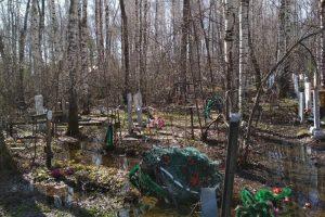 На Южном кладбище Новосибирска затопило могилы