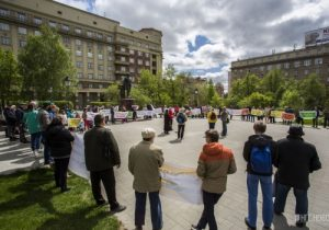 Жители Нижней Ельцовки вновь митингуют против строительства моста