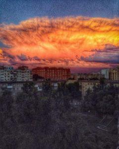 """Марсианский"" закат над городом наблюдали жители Новосибирска"
