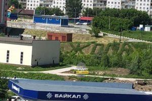 Неприличное слово выстриг неизвестный садовник на газоне в Новосибирске