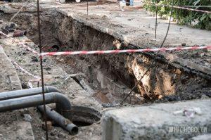 Дорогу на перекрёстке улиц Богаткова и Воинской сузят для ремонта теплотрассы