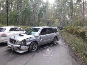 Новосибирск: водитель Subaru ехал на дачу, а вылетел в лес
