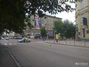 В Новосибирске улицу Ленина перекрыли на весь день