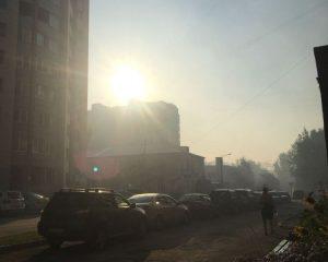 Смог от горящей мусорной свалки Бердска накрыл город и трассу Р-256