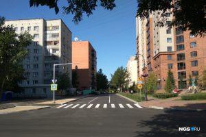 В Новосибирске появилась трёхполосная дорога на улице около площади Калинина
