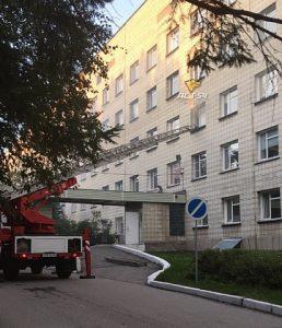 Пожар в Областной больнице Новосибирска: МЧС назвала причину