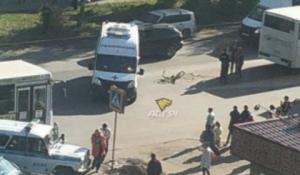 Автобус насмерть сбил ребенка-велосипедиста в Новосибирске