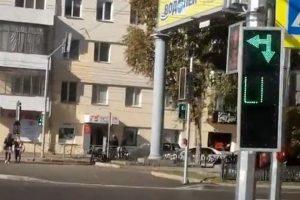Перевернутый светофор появился в центре Новосибирска