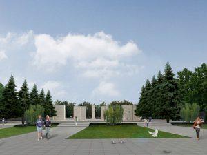 Главную аллею Сквера Славы в Новосибирске вымостят плиткой