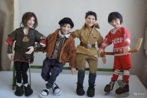В Новосибирске продают авторских кукол Данилы Козловского с волосами из козы
