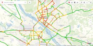 Водители Новосибирска стоят в 10-балльных пробках
