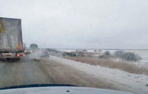 ДТП в Новосибирской области: рейсовый автобус улетел в кювет