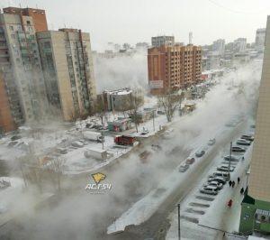 Китяток хлынул на улицы в Ленинском районе Новосибирска