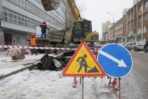 В Новосибирске перекрыли дорогу рядом с Красным проспектом