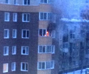 Пожар в центре Новосибирска: загорелась квартира в 25-этажном доме