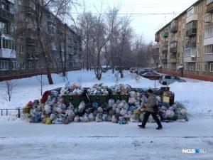 Новосибирцы жалуются: на праздниках город утонул в мусоре