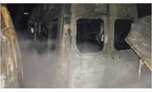 Пожар в Бердске: сгорели 10 маршруток крупнейшего частного перевозчика