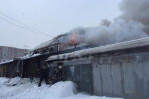 Серьезный пожар в Новосибирске потушили сотрудники МЧС