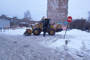 К лицею «Надежда Сибири» подогнали строительную технику