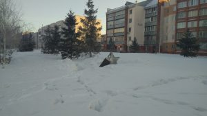 В Новосибирске пропала звезда с памятника Героям Отечества на Сибиряков-Гвардейцев