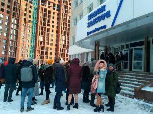 В Новосибирске людей эвакуировали из «Новой высоты»