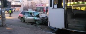 ДТП в Новосибирске: иномарка протаранила автобус