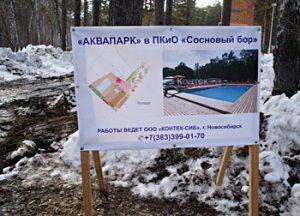 Рубят «Сосновый бор» в Калининском районе Новосибирска