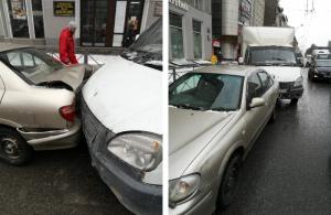 Тройное ДТП в Новосибирске - есть пострадавшие