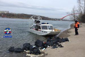Спасатели МАСС выловили из Оби мусор с субботника