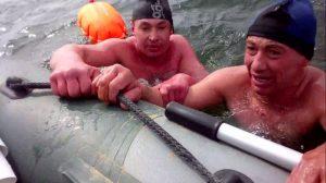Четверо моржей-сибиряков переплыли ледяную Обь