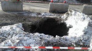 Бердск: в городе вновь обрушился канализационный коллектор