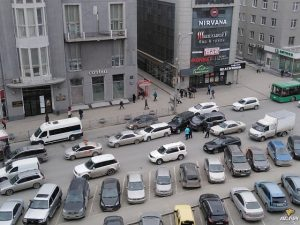 ДТП из пяти машин заблокировало центр Новосибирска