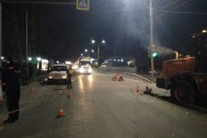 Таксист разбился насмерть в ДТП с погрузчиком на Бердском шоссе