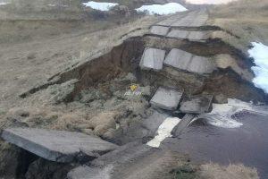 Рухнул мост в Венгеровском районе Новосибирской области