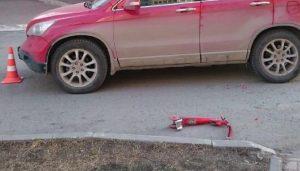 """ДТП в Новосибирске: """"Хонда"""" сбила трёхлетнюю девочку на самокате"""