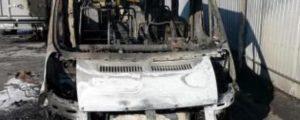 После забастовки водителей в Новосибирске сгорели две маршрутки