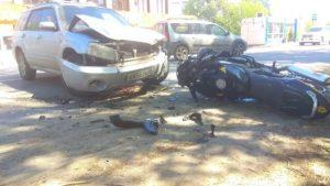 Мотоциклист разбился в ДТП с внедорожником в Бердске