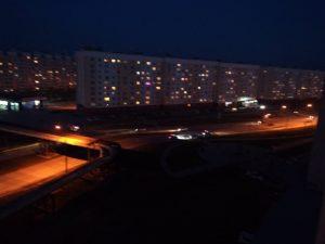 В Новосибирске уходившая от погони «Хонда» врезалась в фонарный столб