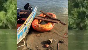 Спасатели МАСС перехватили на Оби двух детей на самодельном плоту