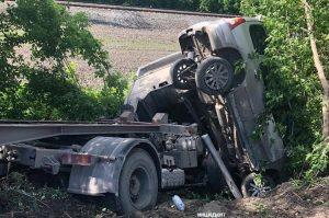 ДТП с грузовиком в Новосибирске: пострадал пассажир