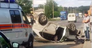 ДТП в Первомайском районе - автомобиль перевернулся на крышу